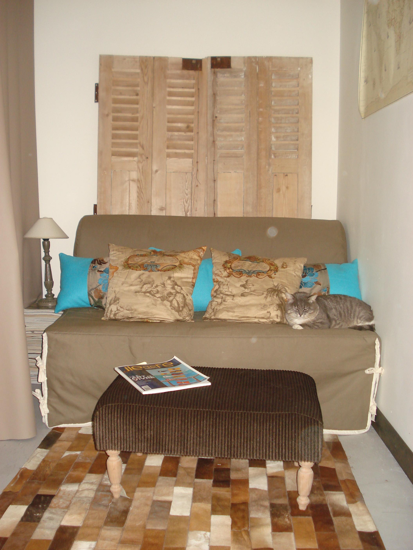Coussins et footstool
