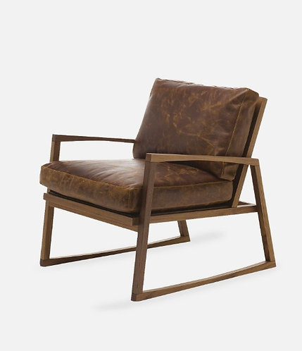 Fauteuil lounge personnalisable avec simili cuir vieilli