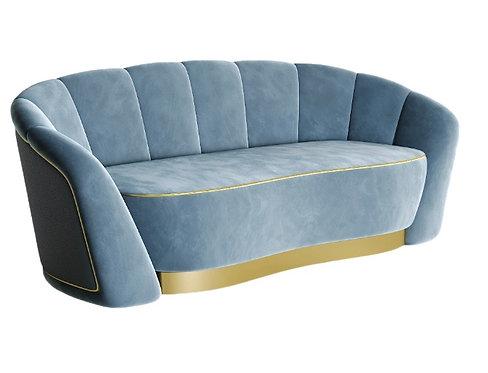 Canapé de salon moderne avec un tissu en velours