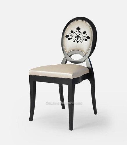 Chaise style Art déco avec création de motif et simili cuir