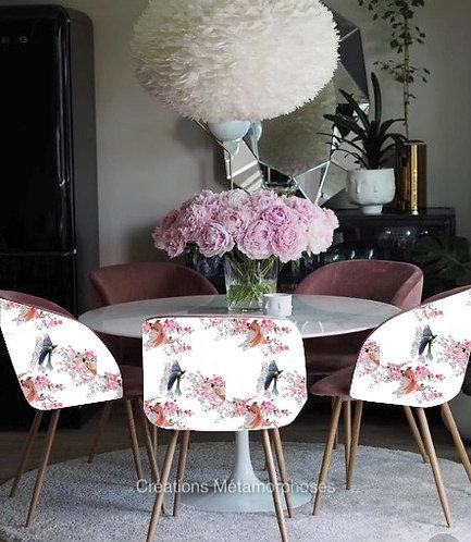 chaise, fauteuil salon, salle à manger avec création de motif japonisant