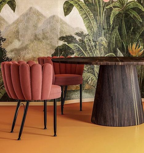 Chaise de salle à manger moderne avec tissus personnalisables