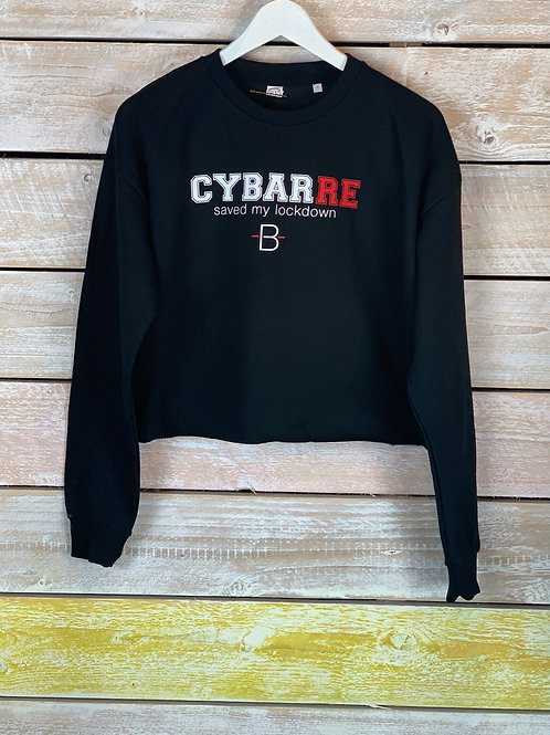 Cy-Barre Saved my Lockdown Cropped Sweater