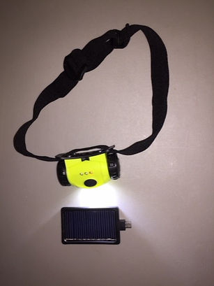Solar Rechargeable Head Lamp