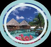 Desodorante perfumado de coco Tahiti para banheiros portáteis