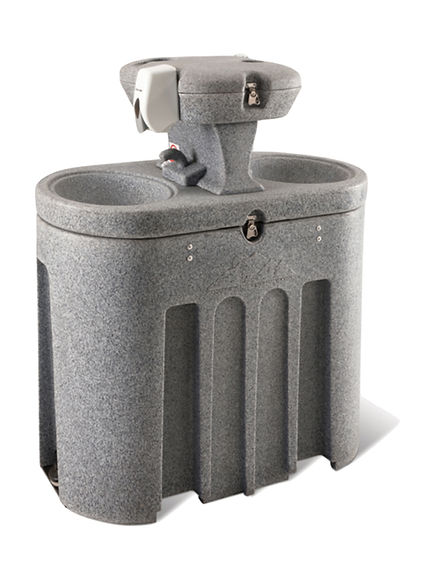 Pia livre / Estação de lavagem manual