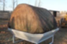 metal round bale hay net feeder