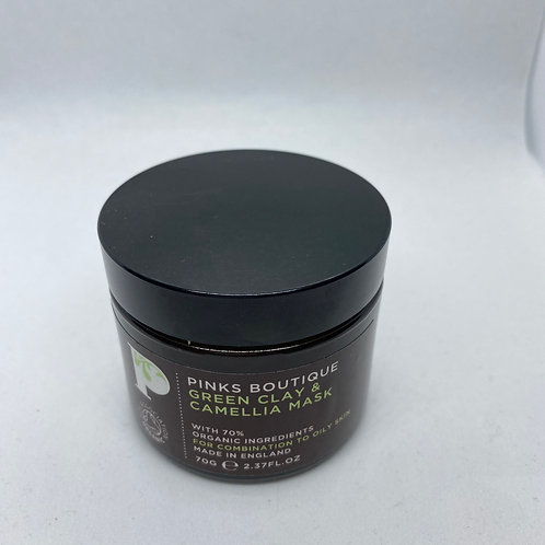 Pinks Boutique Green Clay & Camellia Mask