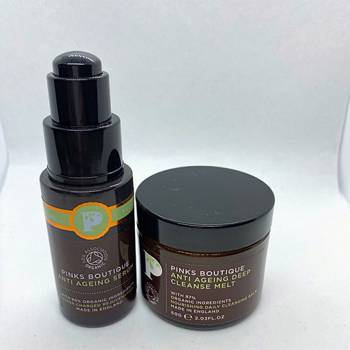 Pinks Boutique ANTI AGEING Serum and Deep Cleansing Melt