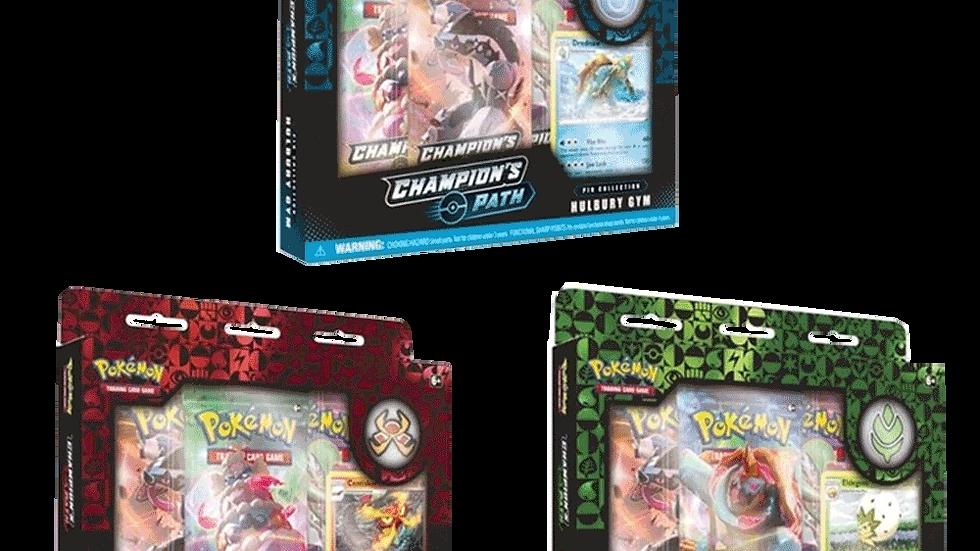 Pokemon Champions Path Pin Collections Hulbury Motostoke and Turffield(1 unit)