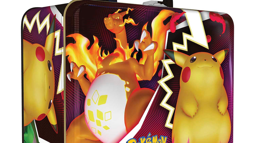 Pokemon TCG Fall 2020 Collector Chest featuring Rillaboom, Cinderace, and Intele