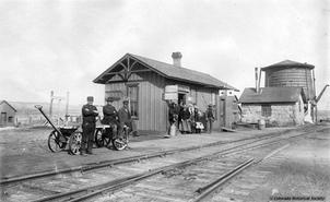 The Old Parker Rail Station circa 1900