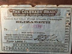 1907 Train Ticket