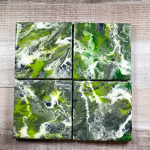 Green Vibes - Table Coaster Set