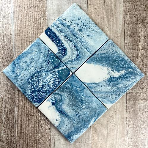 Blue Seas III Table Coaster Set