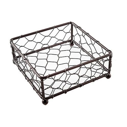 Dark brown wire coaster holder