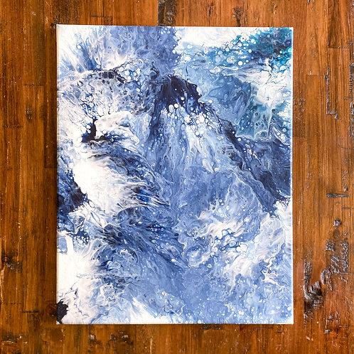 Fluid Painted 16X20 Canvas Wrap