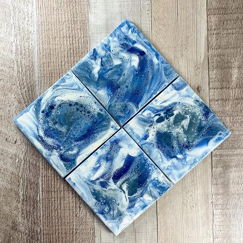 Blue Seas I Table Coaster Set