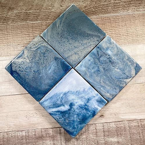 Blue Crush - Table Coaster Set