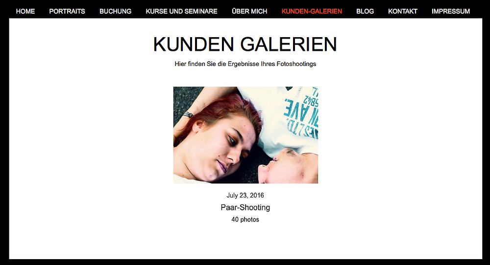 Kunden Galerien Screenshot