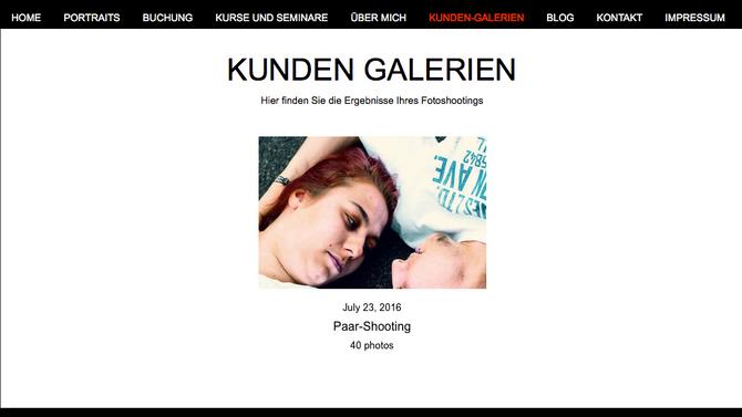 Kunden-Galerien als neuer Service