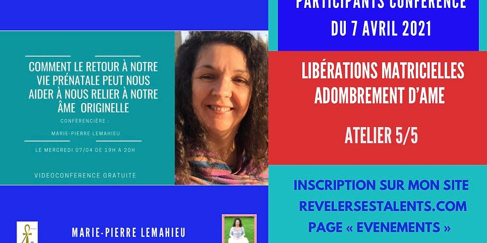 Soins de libération matricielle d'Adombrement d'âme + questionnaire personnalisé