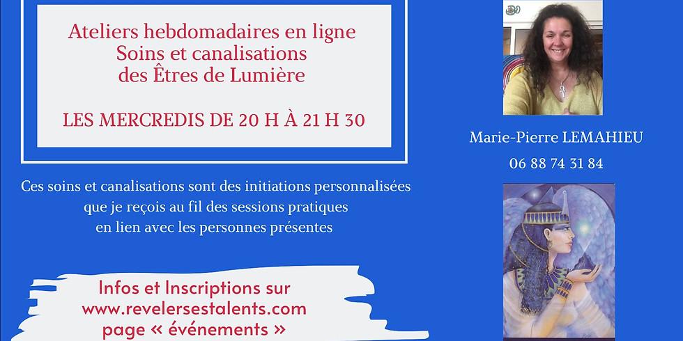 Soins et canalisations des Êtres de Lumière - Lien de connexion : https://global.gotomeeting.com/join/851002165