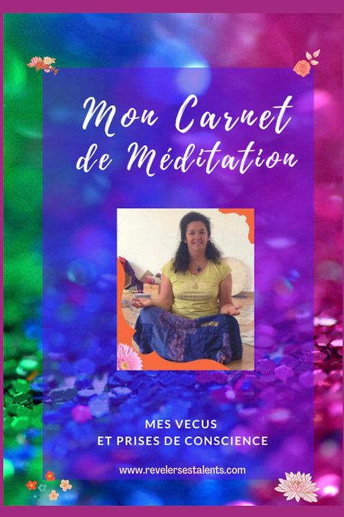 Mon carnet de méditation - pdf téléchargeable