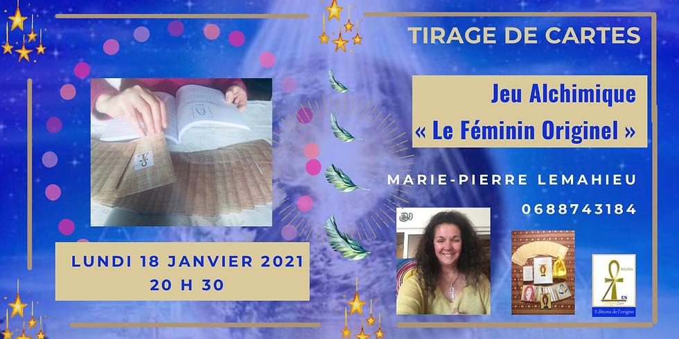 Tirage de Cartes «Jeu alchimique Féminin Originel» : 1 guidance collective et 3 guidance individuelles