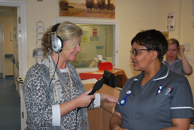 Shannon interviewing nurse.JPG