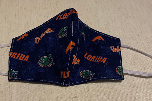 Florida Gators Distress Blue Face Mask