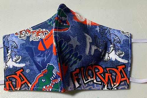 Florida Gator Graffiti Face Mask