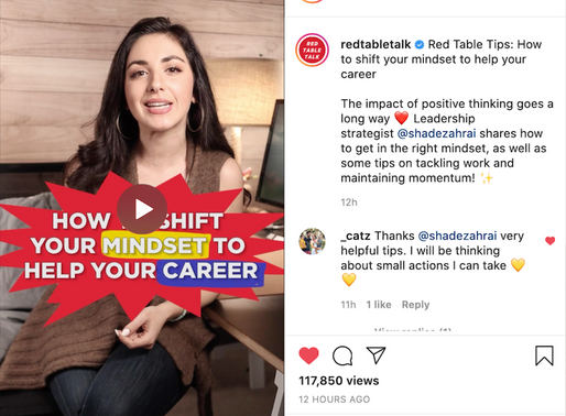 Red Table Talk Tips: How to shift your mindset to help your career