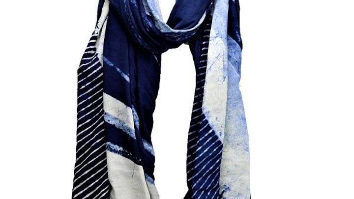 Serenity Indigo Dyed Long Scarf