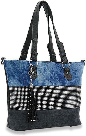 Bling Accent Banded Handbag