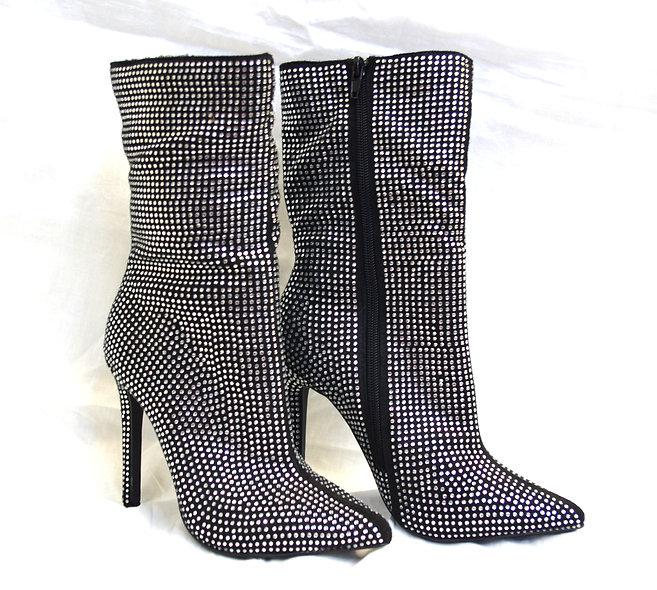 Jax Rhinestone High-Heel Boots