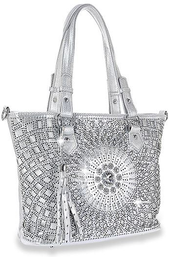 Bling Design Layered Shopper Tote
