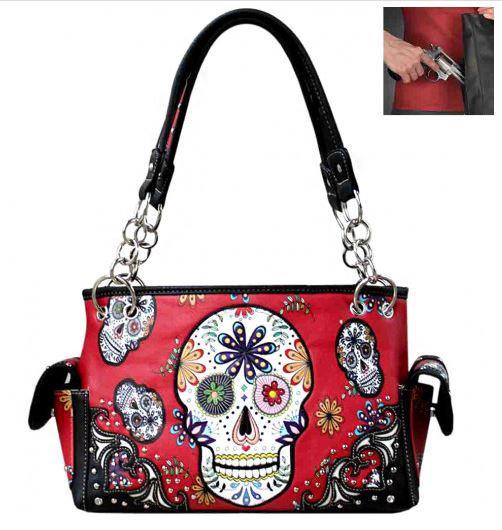 Sugar Skull Concealed Carry Handbag