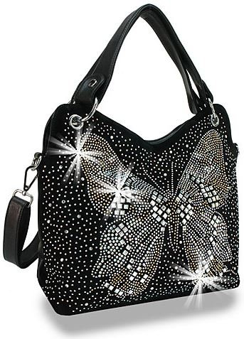 Butterfly Design Rhinestone Handbag