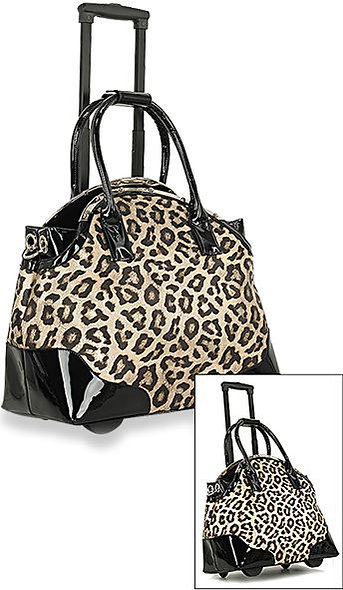 Wheeled Carry On Leopard Luggage