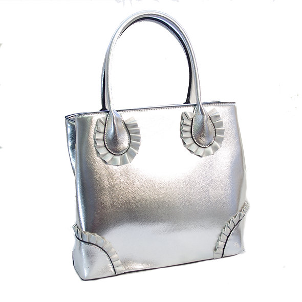 Rose Pedal Bag in Stunning Silver
