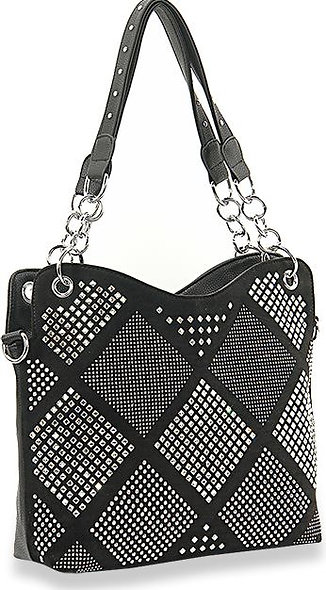 Diamond Pattern Fashion Handbag