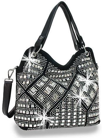 Rhinestone Design Fashion Handbag