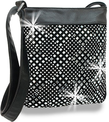 Diamond Rhinestone Pattern Crossbody
