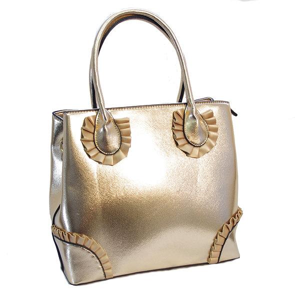 Rose Pedal Bag in Rose Gold