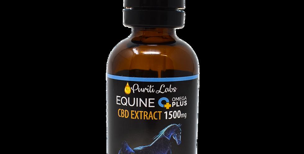 Equine Omega Plus THC Free Hemp CBD Extract 45 Day Supply 1500mg, 60mL