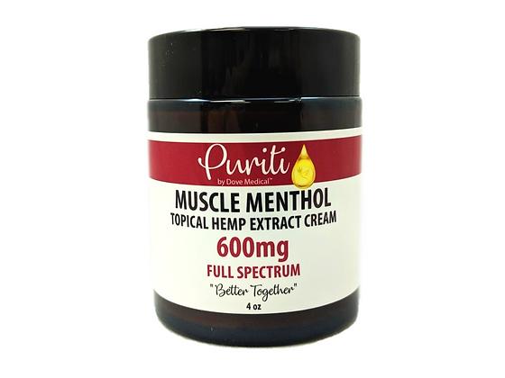 CBD+ Muscle Menthol Extra Strength, Full Spectrum, 600mg, 4oz