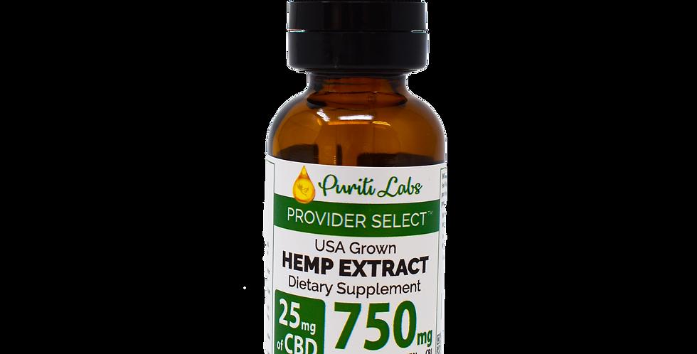 Hemp Extract CBD Tincture Full Spectrum Maintenance Dosage, 750mg, Natural, 30mL