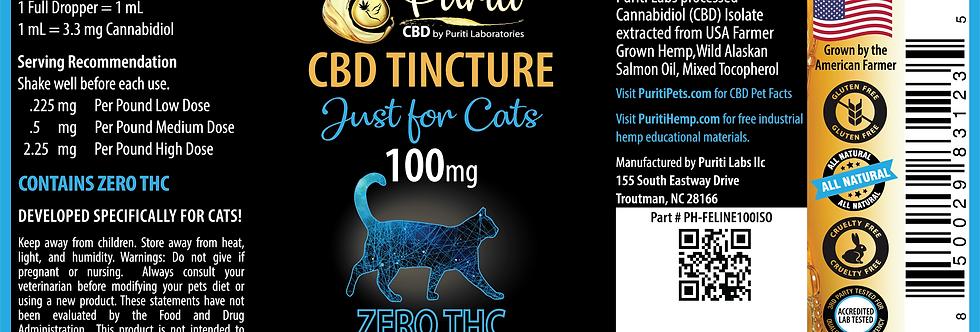 Feline Cat THC Free Hemp Extract 100mg, 30ml