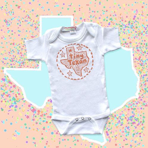 Tiny Texan Onesie - Peach